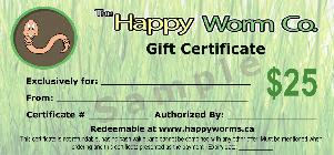 Vermicomposting Gift Certificate